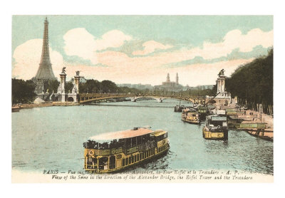 FF-00001-C~Seine-Eiffel-Tower-Paris-France-Posters