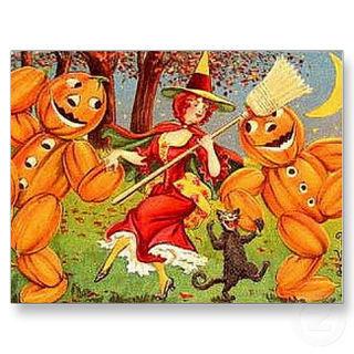 Tl-krw_vintage_halloween_witch_dance_postcard