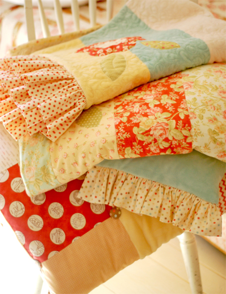 Stackof quilts