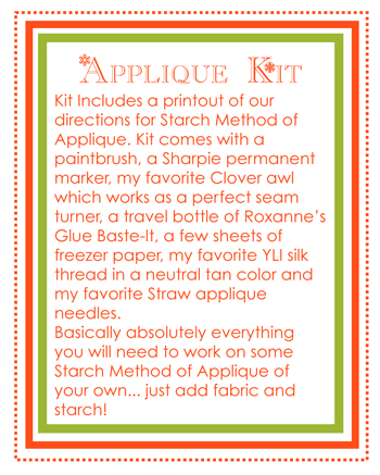 Applique kit info