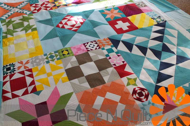 Modern building blocks quilt for moda