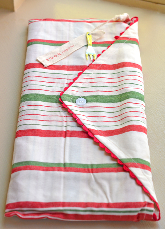 Santa towels envelope