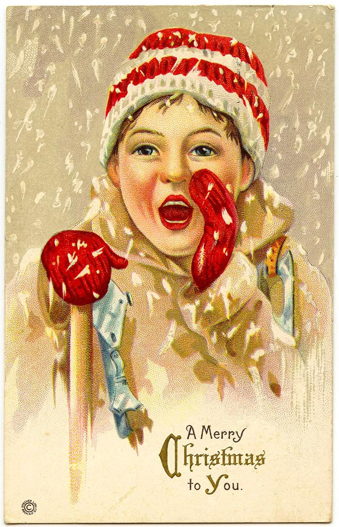 Christmassnowboyvintagesmall