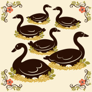 Stock-illustration-18635940-six-geese-a-laying