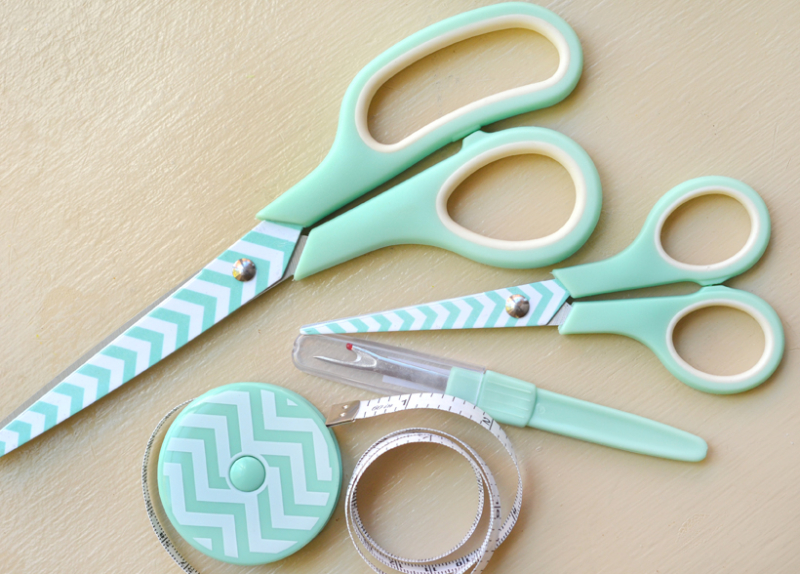 Aqua scissor set plain